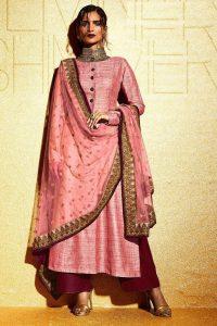 Pink Khadi Straight Cut Pant Suit