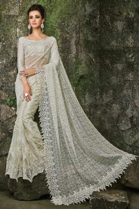 Off White Fancy Fabric Saree